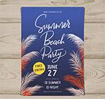 夏季沙滩派对宣传单