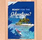 度假海边风景宣传单