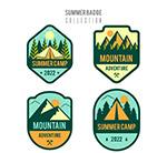 夏季户外野营徽章