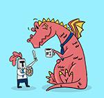 喝咖啡的龙和骑士