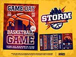 篮球赛门票和宣传单