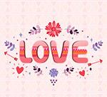 花卉爱的艺术字