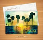 海上椰林明信片