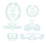 婚礼花纹装饰矢量