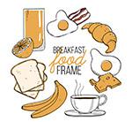 早餐食物框架