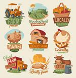 卡通农场品标签