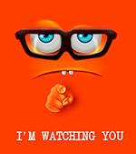 卡通我在看你表情