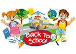 返校学生和校车