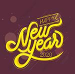 2020新年快乐艺术