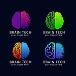 脑科技标志矢量