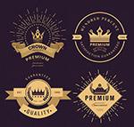 复古王冠标签矢量