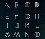 抽象星球大写字母