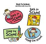 手绘返校学生标签