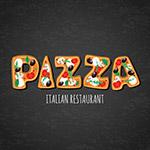 披萨意大利餐馆艺术字