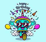 奔跑的生日纸杯蛋糕