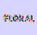 花卉装饰花艺术字