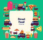 街头食品元素框架