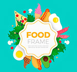 彩色食品框架