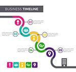 彩色商务时间轴