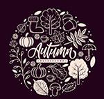 秋季元素艺术字