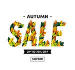 秋季树叶销售招贴画