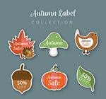 彩色秋季元素贴纸