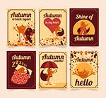 可爱秋季狐狸卡片