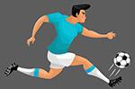 奔跑的足球选手