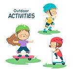 可爱户外运动儿童