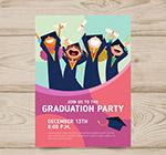 创意毕业派对传单