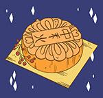 手绘中秋节月饼