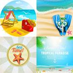 夏季休闲海滩海报