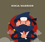 卡通日本忍者