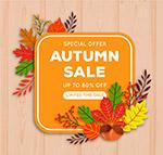 秋季限时促销海报