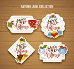 彩色秋季标签设计