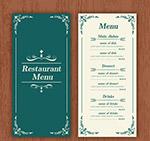 古典花纹餐馆菜单