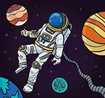 遨游太空的宇航员