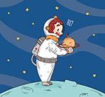 抱住土星的宇航员