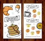 餐馆早餐菜单