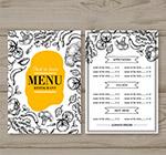 手绘蔬菜餐馆菜单