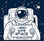 举纸板的宇航员