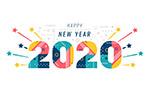 2020拼色艺术字