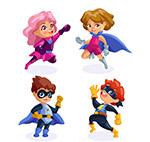 卡通超级英雄儿童