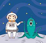 宇航员和外星人