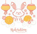 中秋节白兔和灯笼