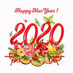 2020花卉艺术字