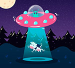 绑架奶牛的外星飞碟