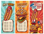热狗汉堡包菜单