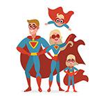 卡通超人四口之家