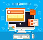 网页设计电脑插画